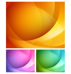 Abstract shapes swirl backgrounds set vector image