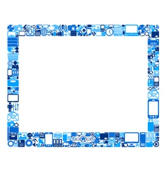 Abstract tablet pc vector