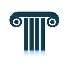 Antique column icon vector
