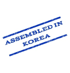 Assembled In Korea Watermark Stamp vector