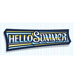 banner hello summer vector image