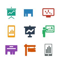 billboard icons vector image