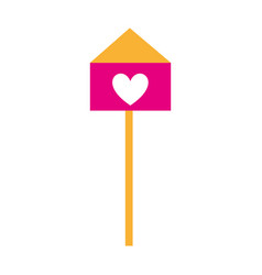 bird house with heart vector image