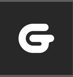 bold letter g initial logo sleek shape creative vector image