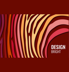 Bright red horizontal abstract background color vector