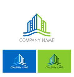 building cityscape company logo vector image