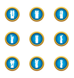 Candlestick icons set flat style vector