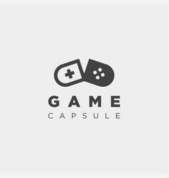 Capsule joystick logo template design vector