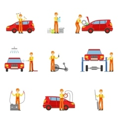 Car Repair Workshop Services Set Of vector