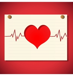 cardiology graph vector image