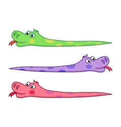 Cartoon snake of funny cute vector image
