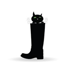 Cat in boot vector