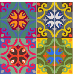 ceramic tiles with seamless pattern vector image