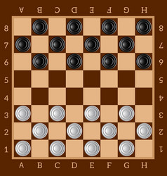 Checkers ancient intellectual board game chess vector