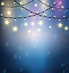 Christmas lights background vector