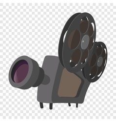 Cinema camera cartoon icon vector image