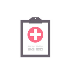 clipboard with medical cross healthcare concept vector image