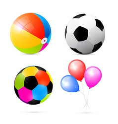 Colorful Beach Air and Beach Balls Set vector