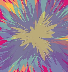 colorful supernova blast background vector image