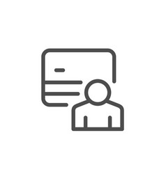 Credit card holder line icon vector