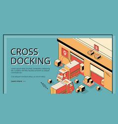 cross docking transportation logistics service vector image