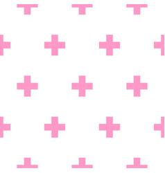 Cross pink and white simple baby scandinavian vector