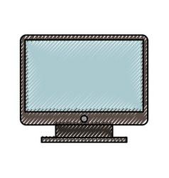 Cute scribble color tv cartoon vector