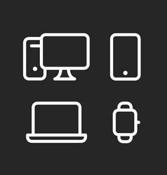 devices set desktop computer smartphone laptop vector image