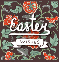 easter wishes typography design elements for vector image