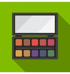 Eye shadow palette flat icon vector