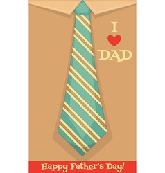 fathers day card vector image vector image