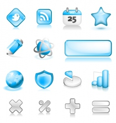 fatty icons volume two vector image