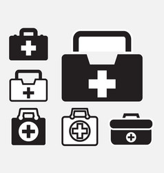 first aid kit icon isolated vector image