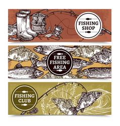 fishing horizontal banners vector image