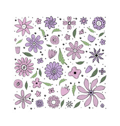 Flowers composition ilustration vector