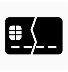 Front ic chip debit credit card broken out limit vector