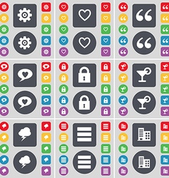 Gear Heart Quotation mark Chat bubble Lock vector