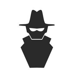 Hacker cartoon symbol vector