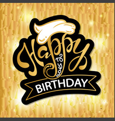 happy birthday beautiful greeting card poster vector image
