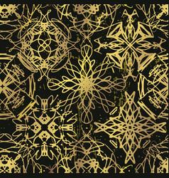 ink hand drawn ornamental design snowflakes vector image