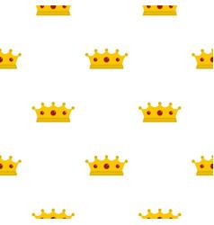 Jewelry crown pattern flat vector