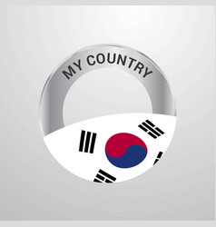 korea south my country flag badge vector image