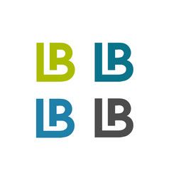 lb letter creative logo vector image