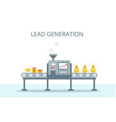 lead generation concept process of leads vector image