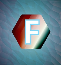 letter f set vector image