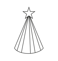 Line art black and white party hat vector