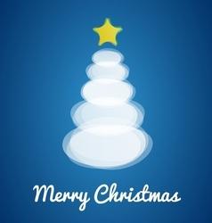 Modern Christmas tree card vector image vector image