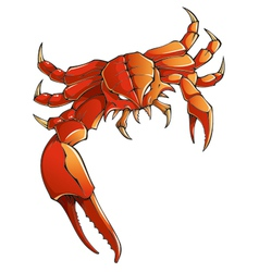 Monster crab vector image