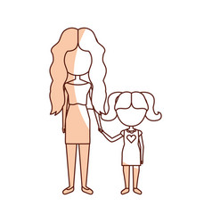 Mother with daughter avatars vector