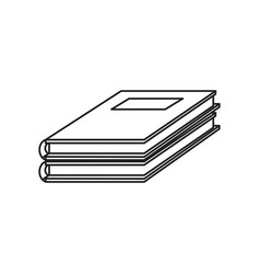 Notebook study educational icon thin line vector